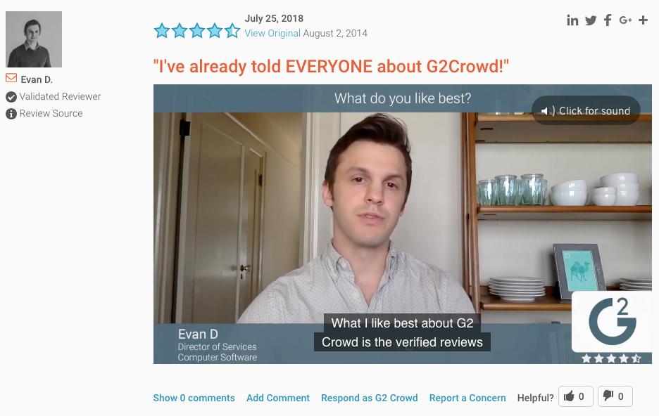 G2 Crowd Video Reviews