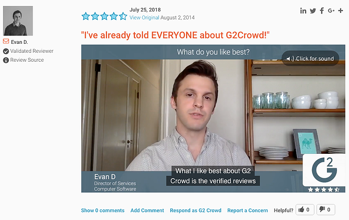 G2 Crowd Video Reviews