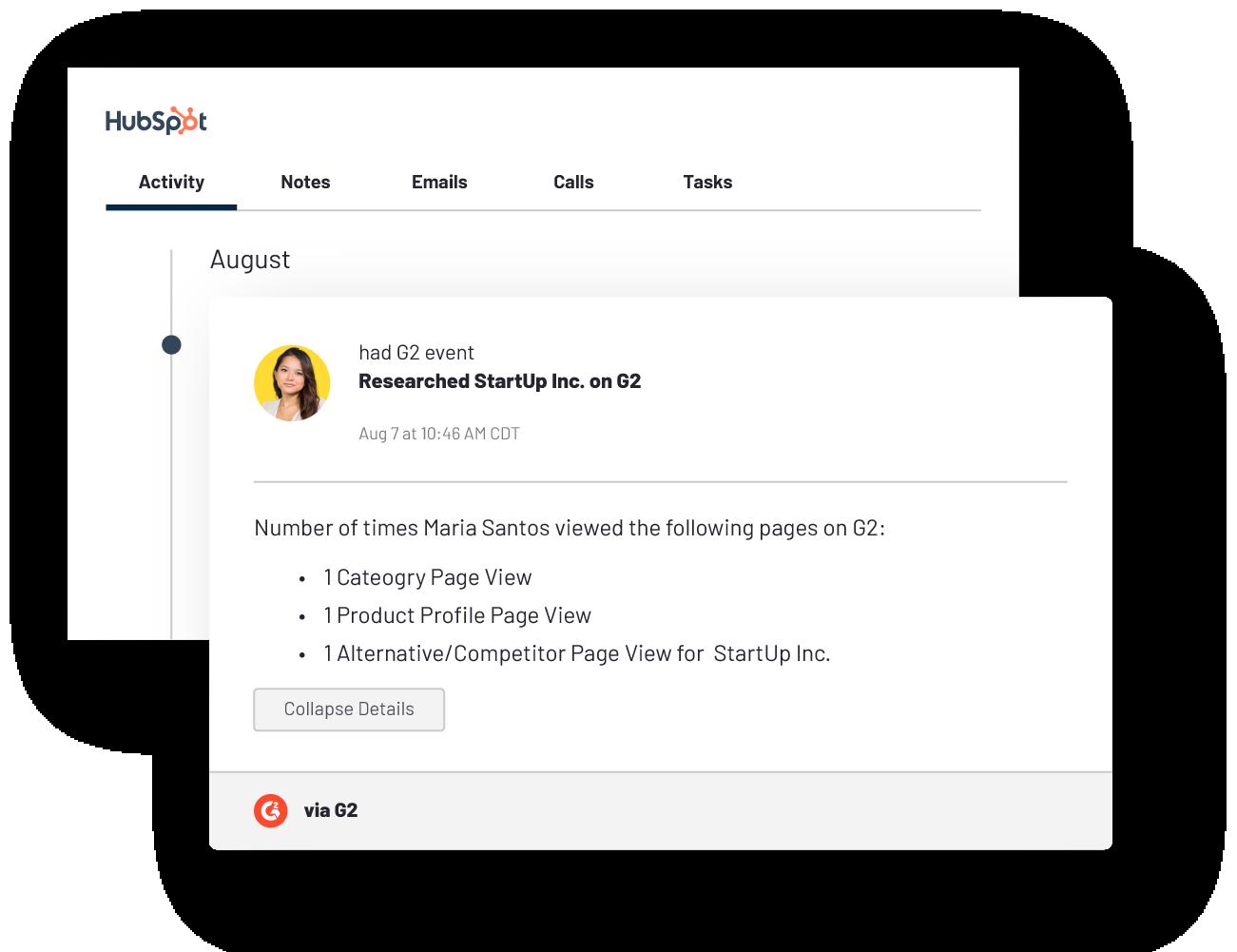 g2 marketing automation hubspot screenshot-marketers