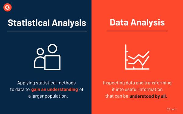 Statistical analysis vs data analysis