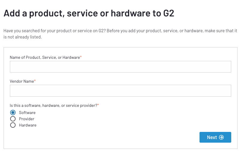 add your business to G2