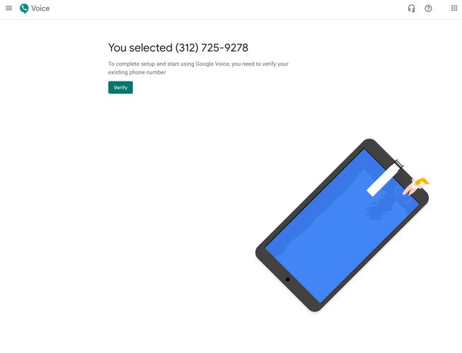 Verify your google voice number